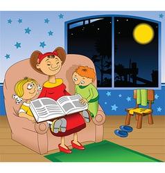 Bedtime story vector
