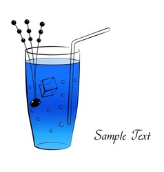 Blue cocktail vector image vector image