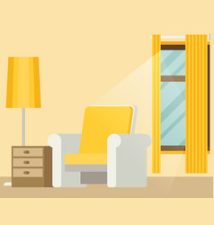 flat style home place vector image vector image