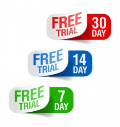 free trial signs vector image vector image