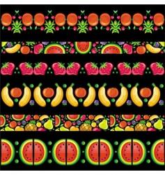 fruity juicy patterns vector image vector image