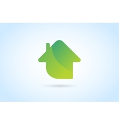 Green house home logo vector image