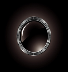 metal button with bolts vector image