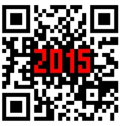2015 New Year counter QR code vector image