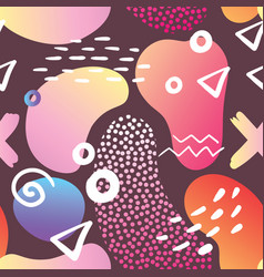 abstract memphis style seamless pattern vector image