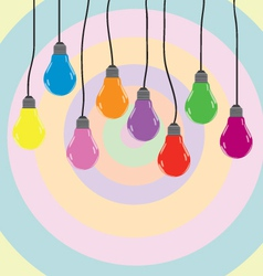 bulb color vector image vector image