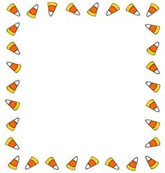 Candy Corn Border vector image