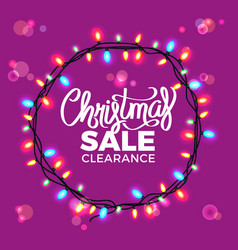 christmas sale clearance on vector image