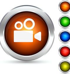Cinema button vector image
