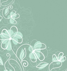 floral back blue vector image vector image