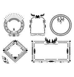 Hand drawn tribal frames vector image vector image