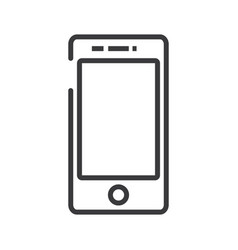 smartphone sign line icon sign vector image