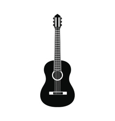 Classic guitar icon simple style vector image vector image