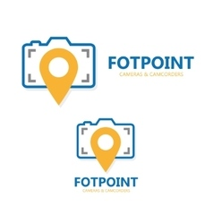 logo point with camera vector image