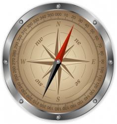 Metal compass vector