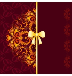 Royal patern with lace ornament vector image