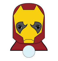 superhero character in red yellow covered vector image