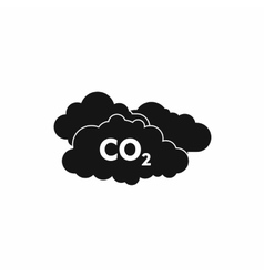 CO2 sign and cloud icon simple style vector image