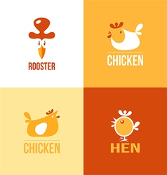 Set of signs and symbols chicken vector image