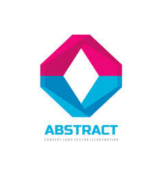 abstract - business logo design cooperation vector image
