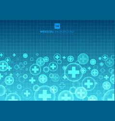 abstract geometric medical cross shape medicine vector image