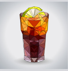 abstract polygonal tirangle cocktail long island vector image