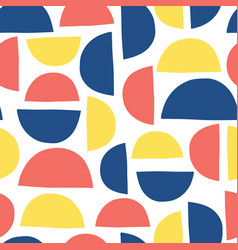 abstract shapes kids pattern semicircles seamless vector image