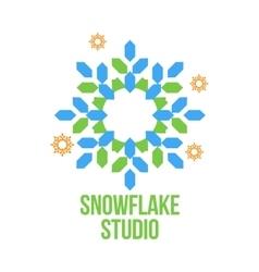 Abstract snowflake logo templates vector
