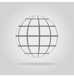 Abstract sphere in a strip vector image