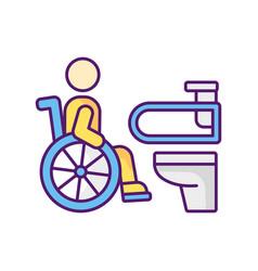 Accessible toilet rgb color icon vector