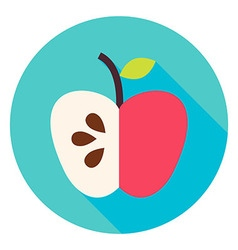 Apple Fruit Circle Icon vector image