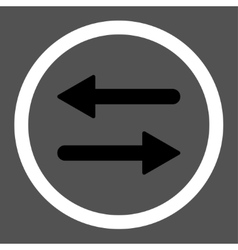 Arrows Exchange flat black and white colors vector
