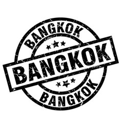 Bangkok black round grunge stamp vector
