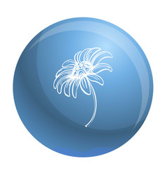 bio chamomile icon simple style vector image