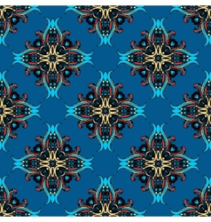 Blue abstract seamless tiled design vector image