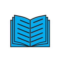 blue book icon on white background book sign vector image