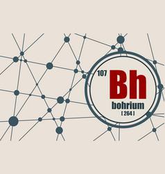 Bohrium chemical element vector
