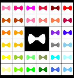 bow tie icon felt-pen 33 colorful icons vector image