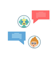 chat bot chating vector image