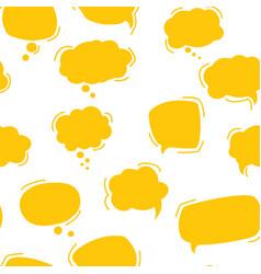 Chat bubble pattern seamless pattern yellow vector