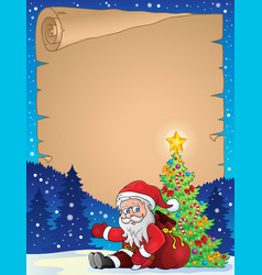Christmas thematic parchment 8 vector
