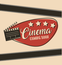 cinema coming soon movie film clapper board vector image