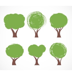 Collection of tree icons vector image