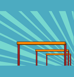 cross-country barriers obstacles vector image