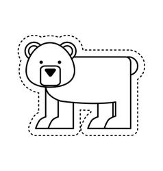 Cute bear character icon vector