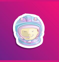 Cute cartoon girl astronaut cartoon girl vector