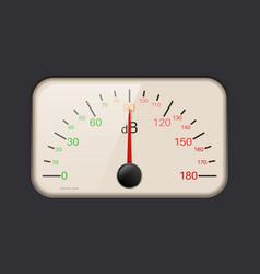 Decibel meter vector