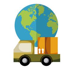 Delivery cartoon service vector