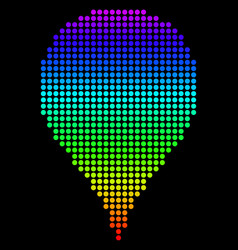 Dotted pixel spectrum map pointer vector