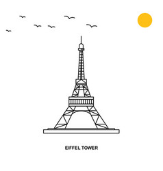 eiffel tower monument world travel natural vector image